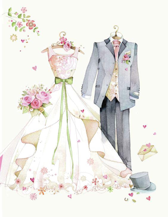 تصویر png لباس عروس و داماد