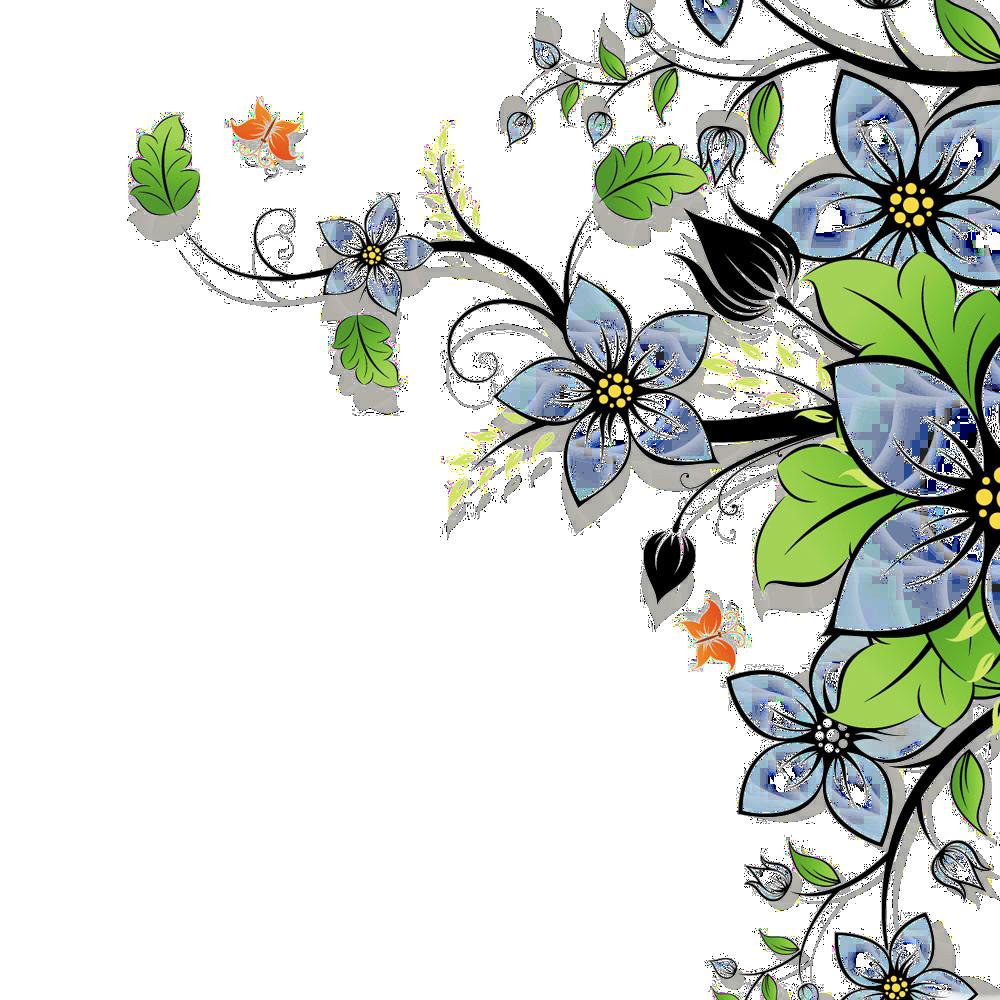 گل و بوته png
