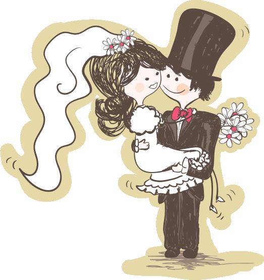 عروس و داماد PNG